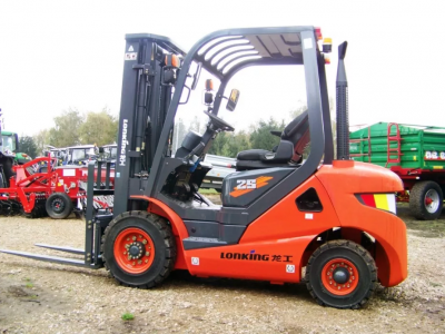 Forklift D2500 delivery to Estonia, Tartu